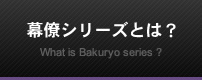 幕僚シリーズとは?What is Bakuryo series ?